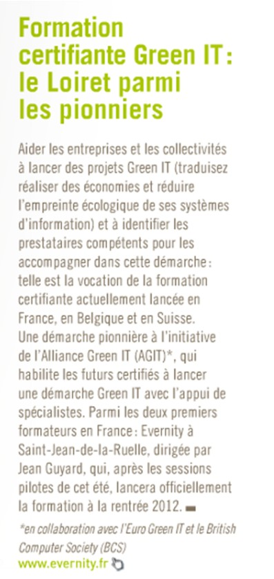 Loiret Eco n°48 juin-juillet - Green IT Evernity